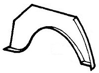 Rear Wheel Arch Repair Panel, RH (SBO0694) sbo694, wheel arch, Rear Wheel Arch Repair Panel, RH (SBO0694)