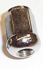 Lug Nut, Chrome, Radiused Contact, set/16