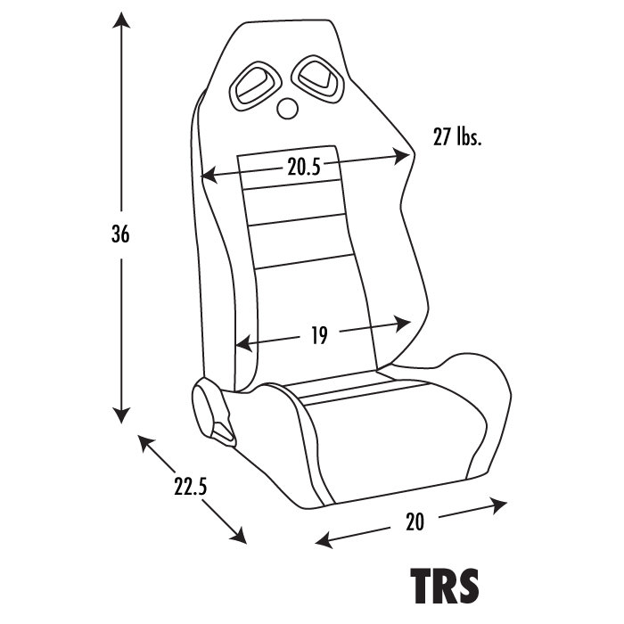 Corbeau Trs Reclining Seat Pair Cb Trs