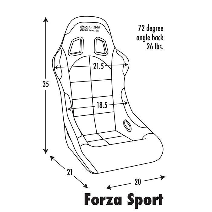 Corbeau Racing Seat Forza Sport Forza Sport