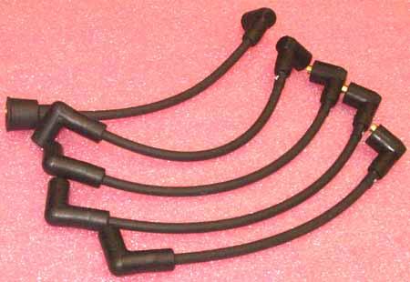 Spark Plug Wire Set, Top-exit Cap, High Performance Black