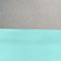 Powder Blue / Gold Brocade