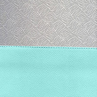 Powder Blue / Silver Brocade