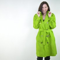 Apple Green Trench Coat by Kirsten Wolff