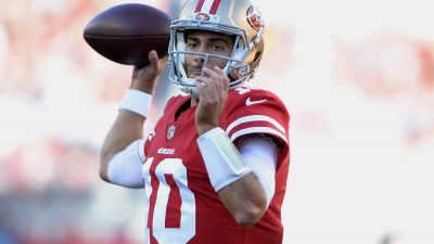 Garoppolo, Gould topple playoff-caliber Titans 18