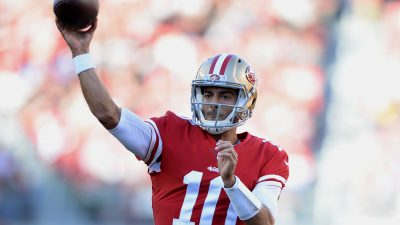 Garoppolo, Gould topple playoff-caliber Titans 17