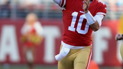 Garoppolo, Gould topple playoff-caliber Titans 12