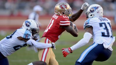 Garoppolo, Gould topple playoff-caliber Titans 11
