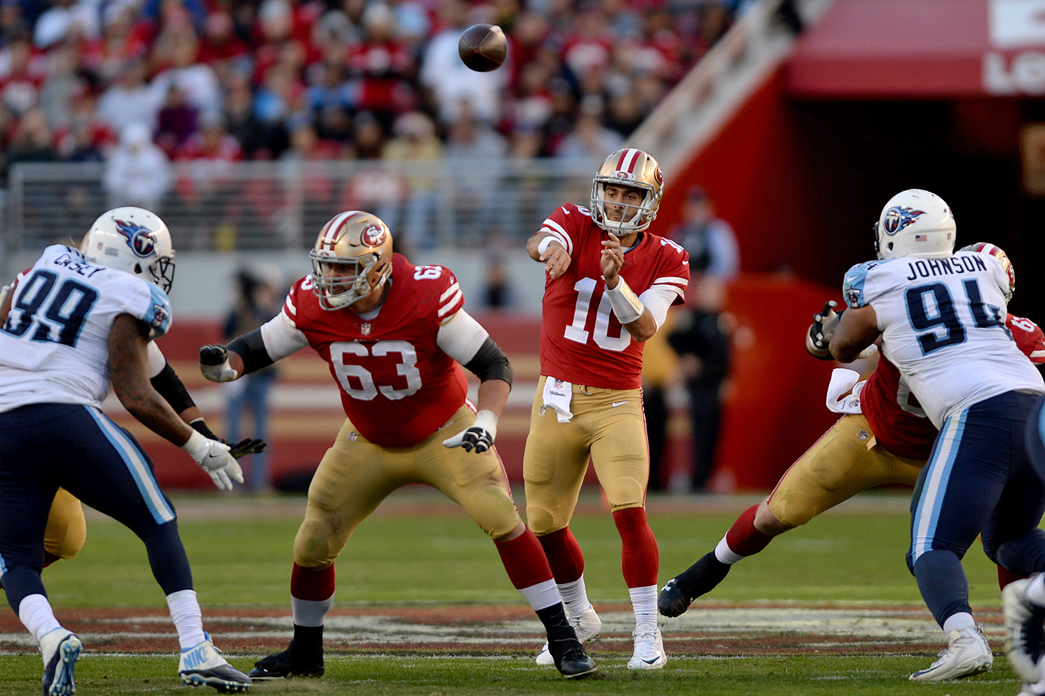 Garoppolo, Gould topple playoff-caliber Titans 6