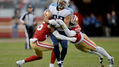 Garoppolo, Gould topple playoff-caliber Titans 4