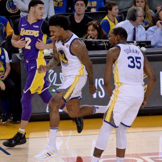 Warriors sink Lakers sans Steph, Klay, Draymond