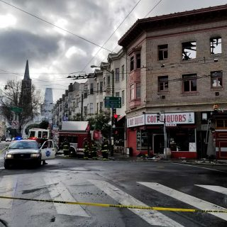 Firefighters keep watch at site of North Beach fire