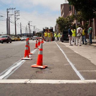 Townsend Street bikeway dodges delays