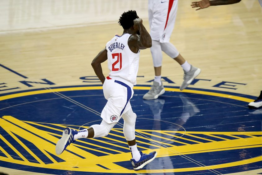 788acca92cc9 ... Los Angeles Clippers guard Patrick Beverley (21) flexes after scoring  in the first quarter as the Los Angeles Clippers face the Golden State  Warriors in ...