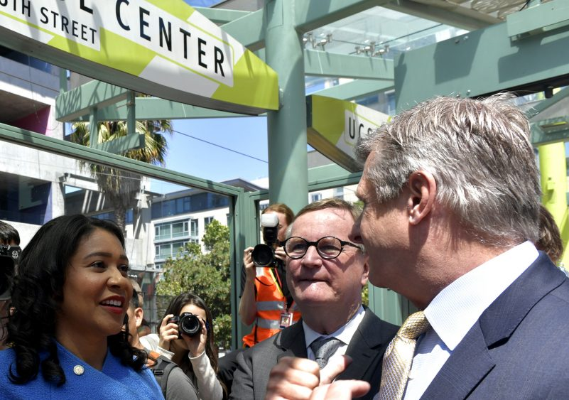 Officials cut the ribbon on new UCSF/Chase Center Muni platform – SFBay