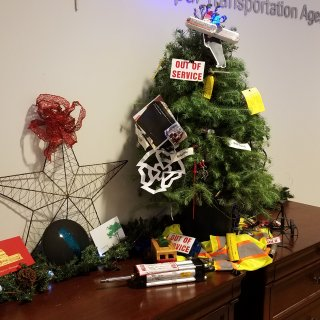 Holiday tree sheds light on Muni's past and future