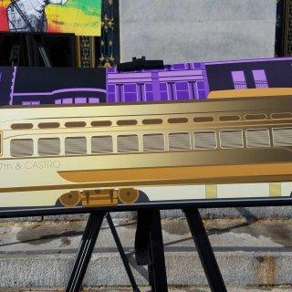 Muni art buses splash color onto city streets