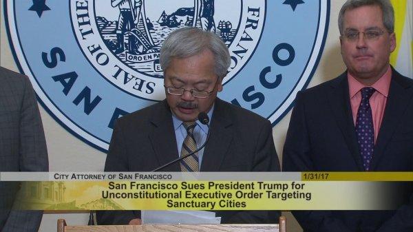 In Trump's crosshairs, San Francisco returns fire