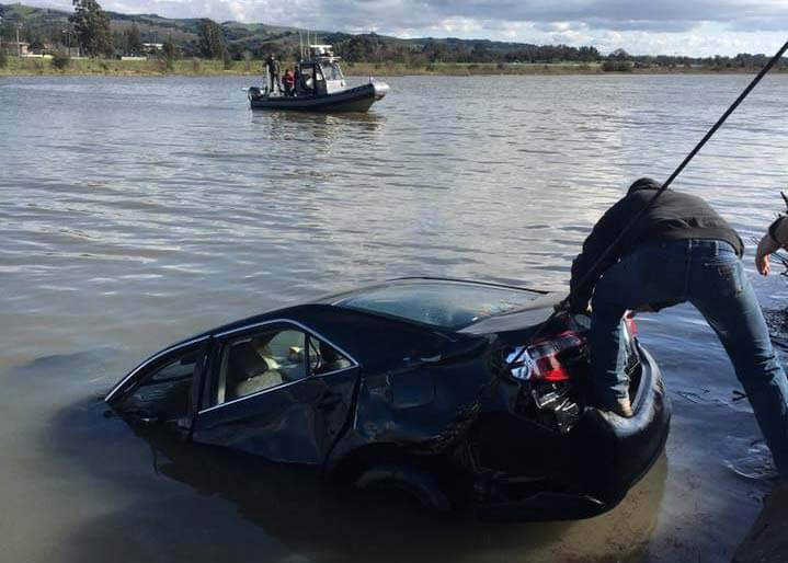 Napa River car plunge