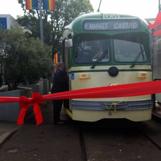 Harvey Milk streetcar rolls back into service