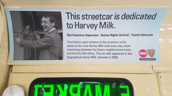 Harvey Milk F-Market Streetcar