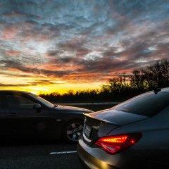 Sacramento freeway sunset