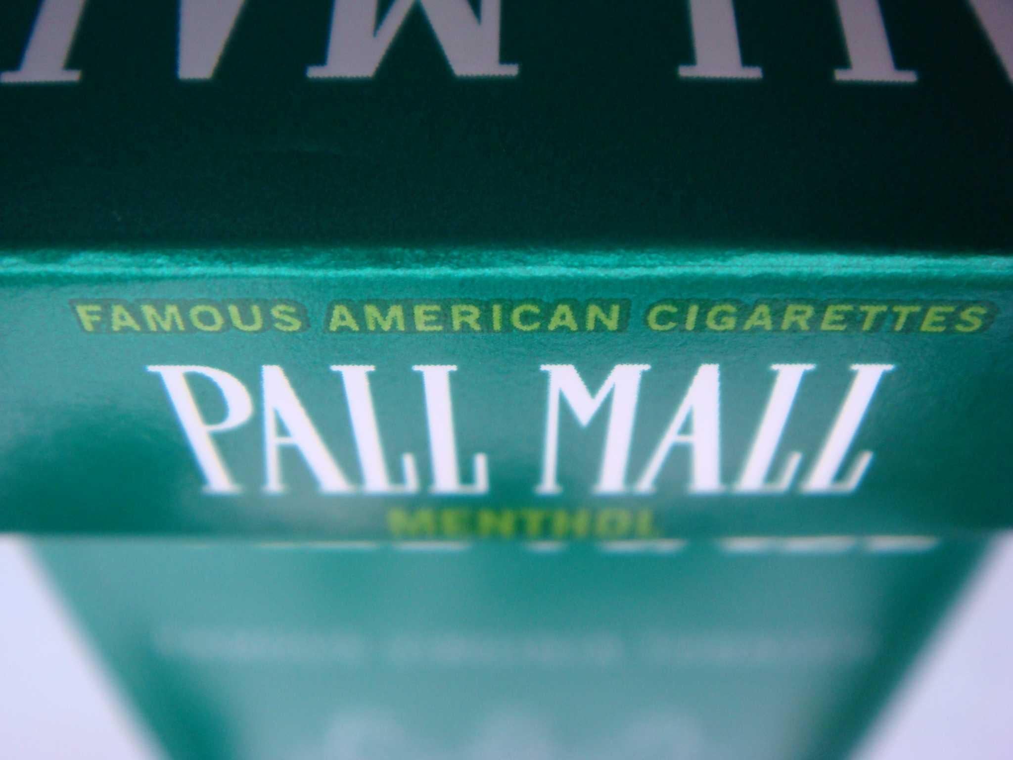 Pall Mall menthol cigarettes