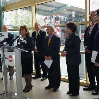 Officials press Trump to help electrify Caltrain