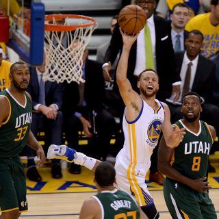 Sharp Warriors march past Jazz in Game 1