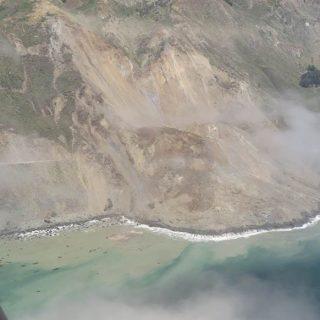No estimate for Highway 1 reopening after massive landslide