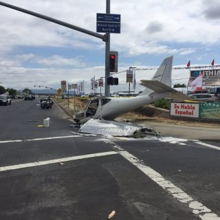 Small plane crash lands in Concord street