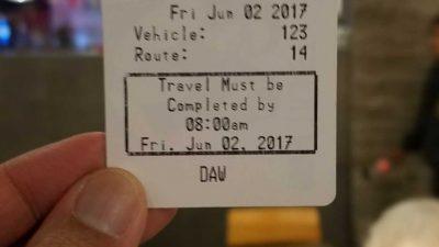 New Muni farebox transfers