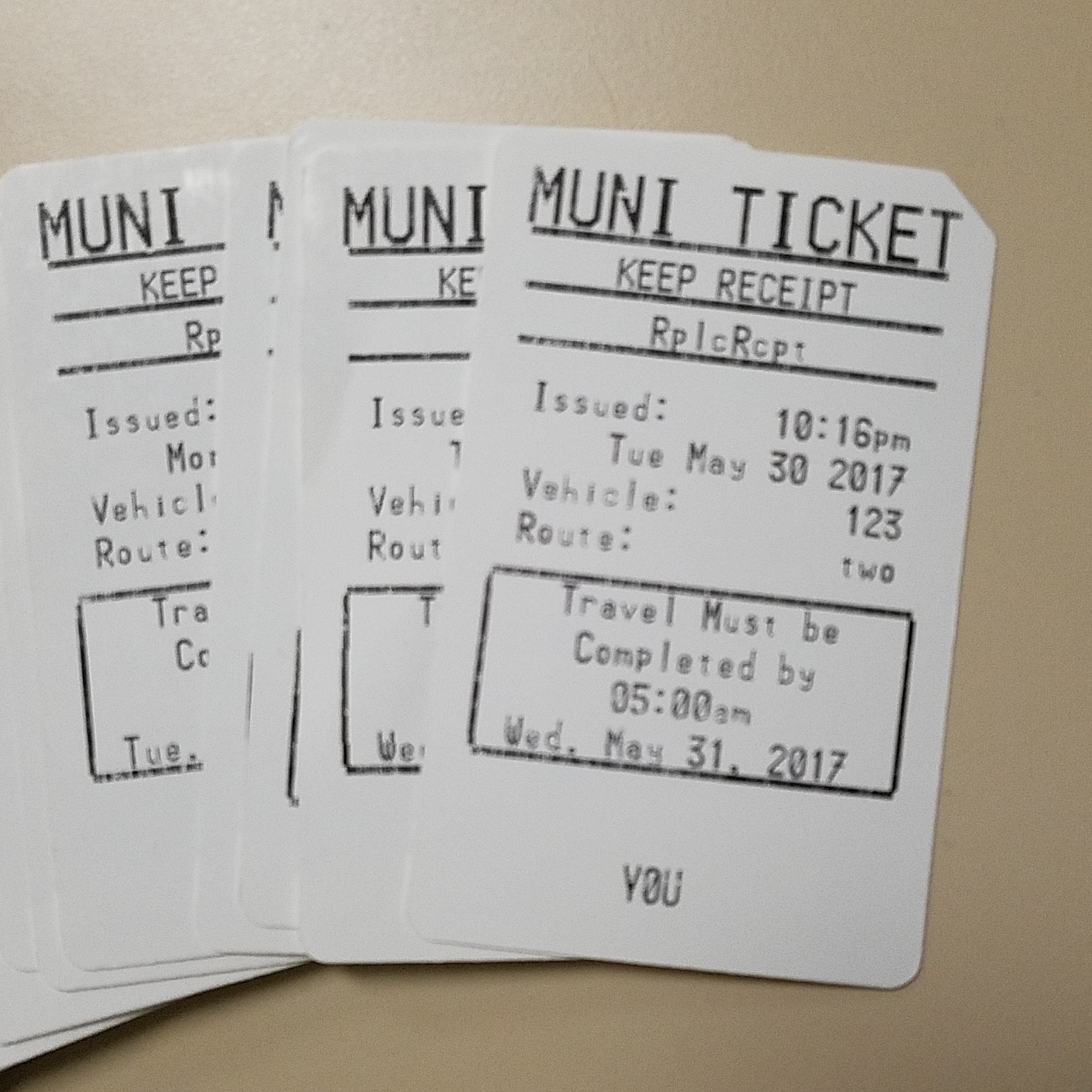 New Muni farebox transfers