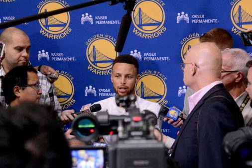 Warriors end of season media session