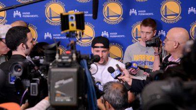 Warriors end of season media session
