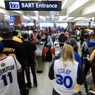 Half a million people rode BART on Warriors rally day