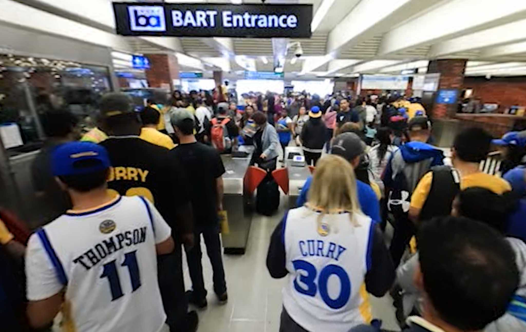 BART Warriors Parade