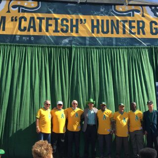 A's seal Catfish's place in Oakland lore with gate naming