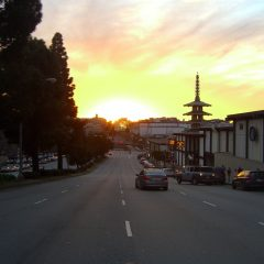 Geary Boulevard sunset