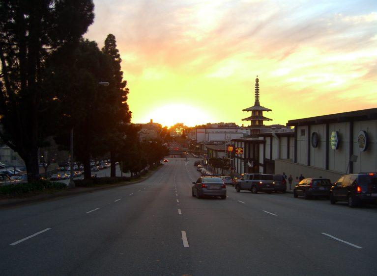 Geary Boulevard sunset