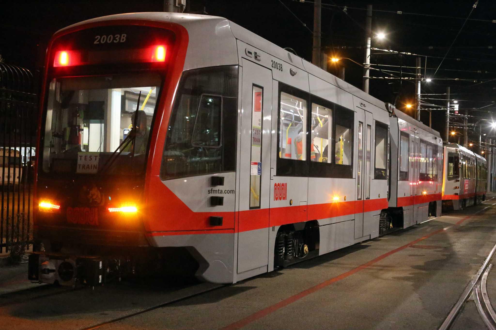 Muni Metro LRV4 testing