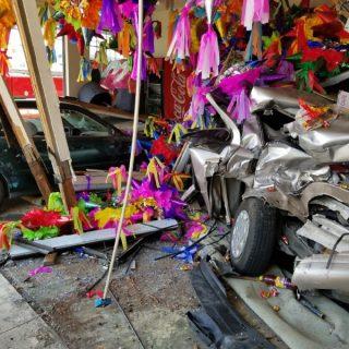 Seven injured in crash into piñata store