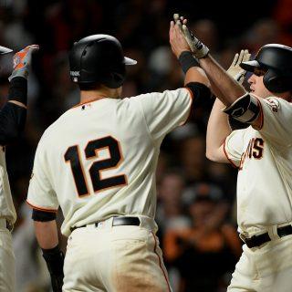 Giants, Blach bash A's, split Bay Bridge series
