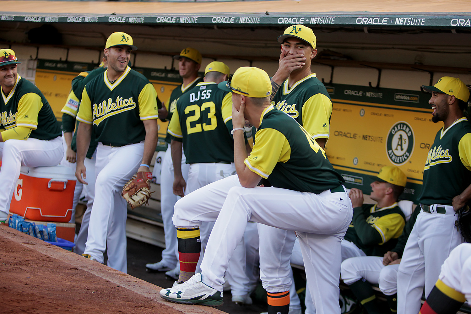 new product 15115 18654 Inside Pitch: A's enjoy style, success in Players Weekend ...