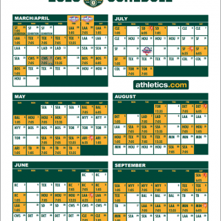 A's 2018 schedule includes free Tuesday game in April
