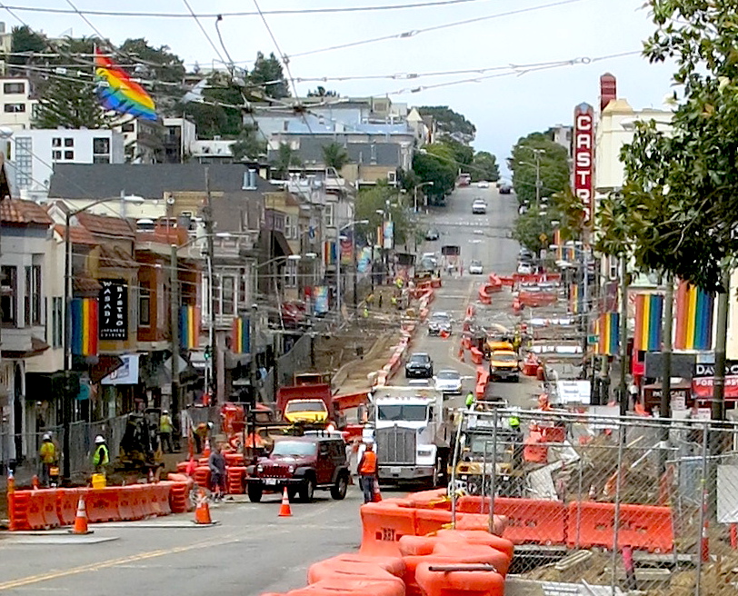 Castro Street sidewalk renovation