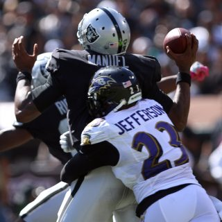 Outmanned Raiders outgunned by Ravens