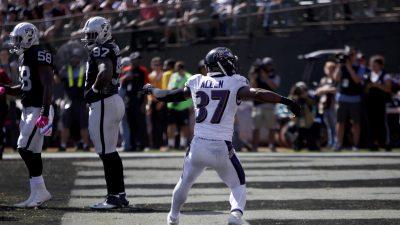 Raiders vs Ravens