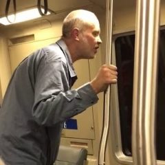 Racist white guy on BART