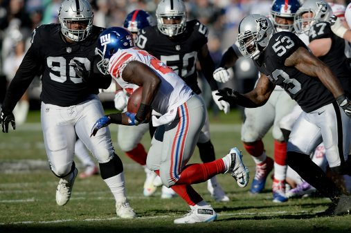 Raiders survive Giants, rise to top of AFC West 26